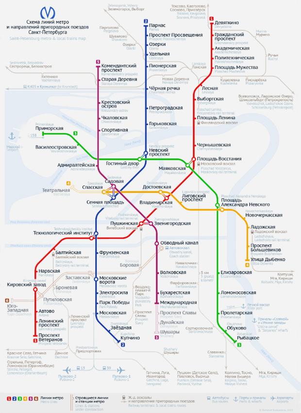 Карты на стол: 11 альтернативных схем петербургского метро. Изображение №16.