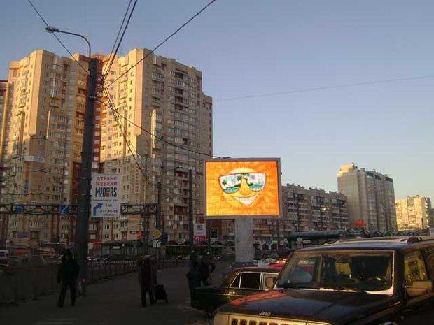 Видеоэкран на станции «Коменданский проспект». Изображение № 1.
