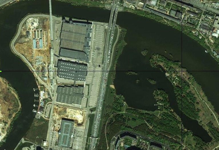 МКАД. Снимок со спутника, 2012 год. Торговый променад для автомобилистов.. Изображение № 16.