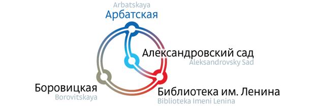 Студия Лебедева представила доработанную схему метро. Изображение №2.