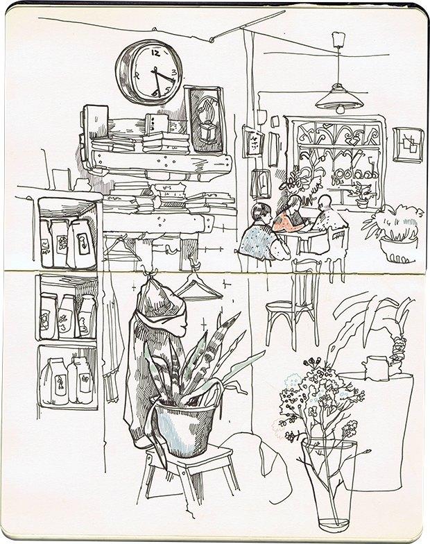 Клуб рисовальщиков: Кофейня LES. Изображение №5.