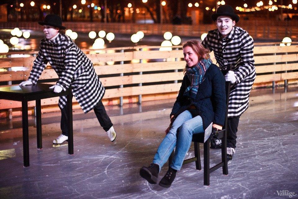 Люди в городе: Первые посетители катка в парке Горького. Изображение № 12.