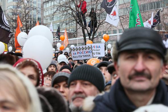 Митинг «За честные выборы» на проспекте Сахарова: Фоторепортаж, пожелания москвичей и соцопрос. Изображение № 36.
