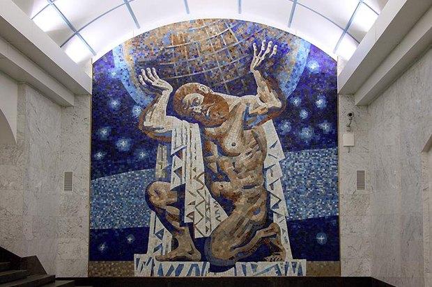 Мозаичное панно на «Международной» подвергли цензуре. Изображение № 3.