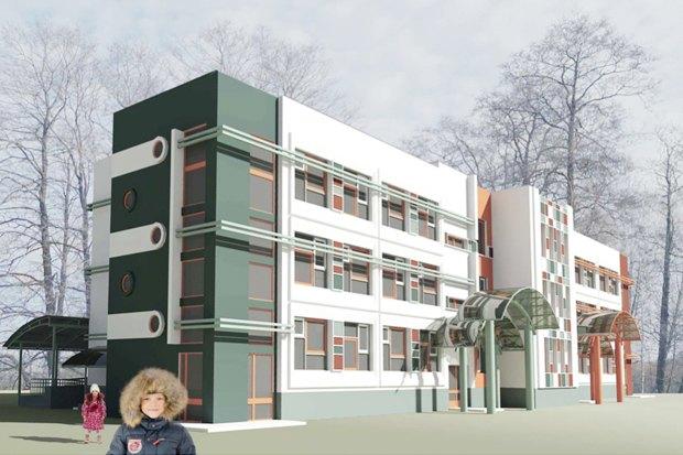 Дошкольное образовательное учреждение на 5 групп (120 мест) для затеснённых условий застройки, VI 70. Изображение № 1.