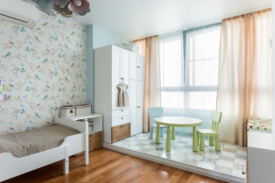Большая квартира для семьи на«Нагатинской» с кабинетом илимонной ванной. Изображение № 13.