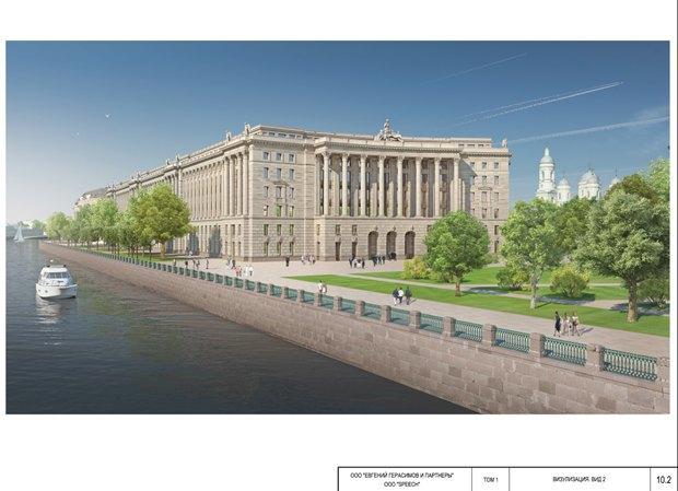 СМИ опубликовали часть нового проекта судебного квартала наПетроградской стороне. Изображение № 1.