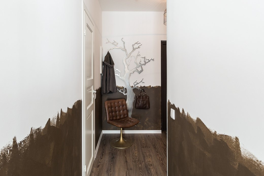 Компактная квартира вДевяткино сбарной стойкой ивинтажными элементами . Изображение № 15.