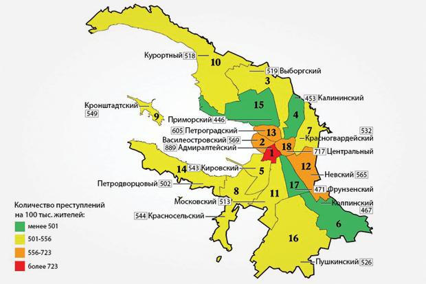 Журналисты составили карту петербургской преступности. Изображение № 1.