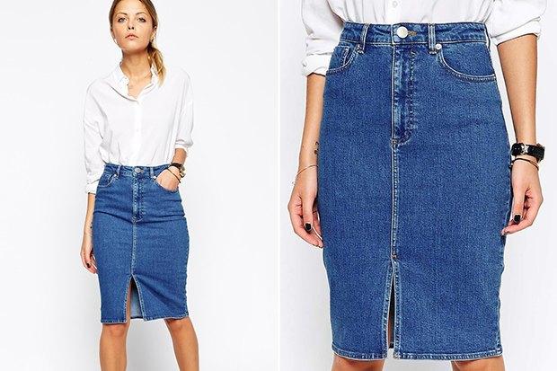 Юбка джинсовая расклешенная купить
