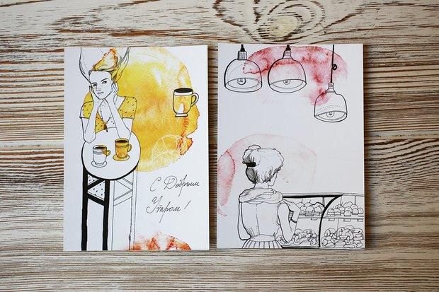В «Буше» теперь можно отправить открытки силлюстрациями петербургских художников. Изображение № 5.