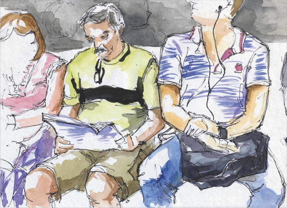 Выставка «Москва вэскизах LAM Sketching Club» впарке «Музеон». Изображение № 1.