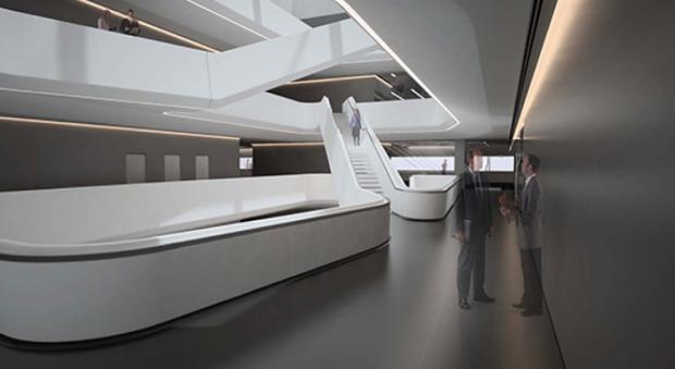 В Москве открылся бизнес-центр по проекту Захи Хадид. Изображение № 2.