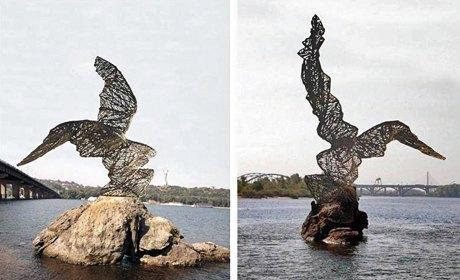 Памятник редкой птице установят в середине лета. Изображение № 1.