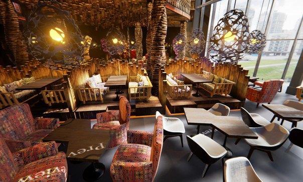 В «Жемчужной плазе» открылся двухэтажный ресторан «Чайхана Пахвала» . Изображение № 1.