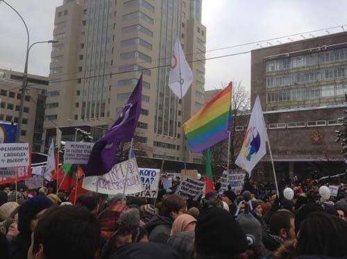 Прямая трансляция: Митинг «За честные выборы» на проспекте академика Сахарова. Изображение № 10.