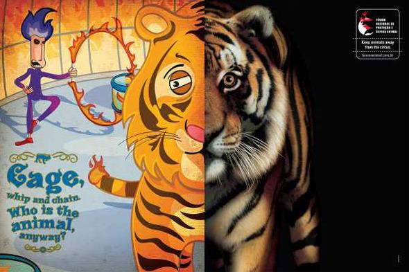 Социальная реклама бразильского агентства Longplay: «Клетка, кнут и цепь. И кто здесь животное?». Изображение №2.