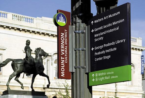 Информационные киоски и знаки навигации хорошо заметны в городе, но в то же время удачно сочетаются с ландшафтом (Балтимор, Мэриленд).. Изображение № 30.