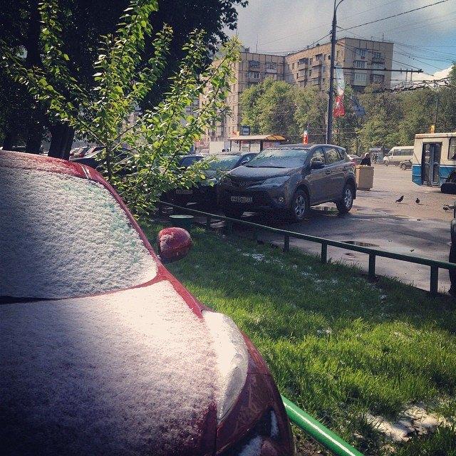 Майский снегопад вснимках Instagram. Изображение № 1.