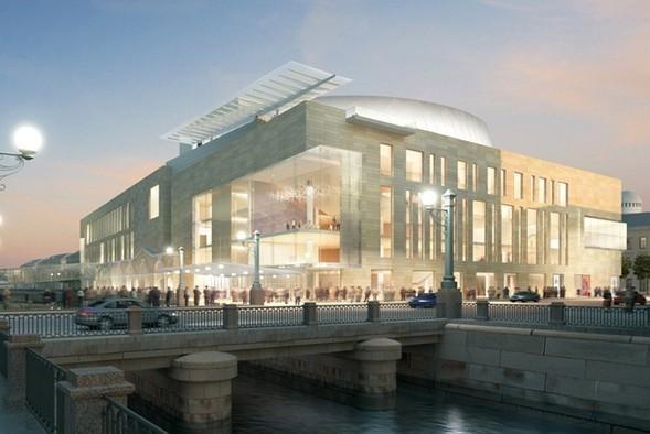 Вид на новую сцену Мариинского театра с Крюкова канала. Изображение № 28.