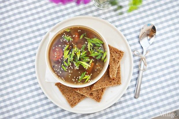 Китайский грибной суп с жареным тофу и грибами шиитаке — 200 рублей. Изображение № 22.