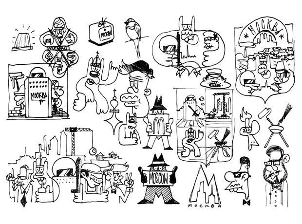 Герб Москвы: Версия граффити-художника Nootk. Изображение №22.