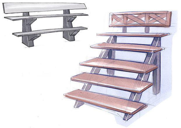 Студия Лебедева придумала многоуровневые скамейки. Изображение № 3.