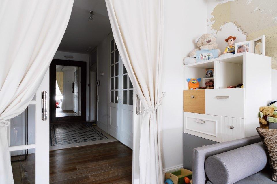 Четырёкомнатная квартира в американском стиле для семьи сдвумя детьми. Изображение № 39.
