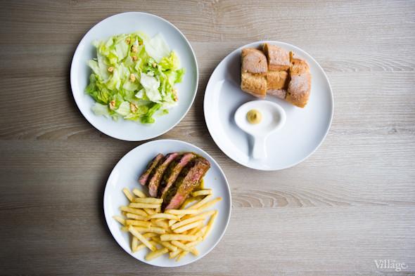 «Smart-меню»: багет с горчицей, салат и полпорции стейка и картошки фри.. Изображение №25.