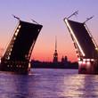 Фоторепортаж: Как разводят Дворцовый мост. Изображение № 8.