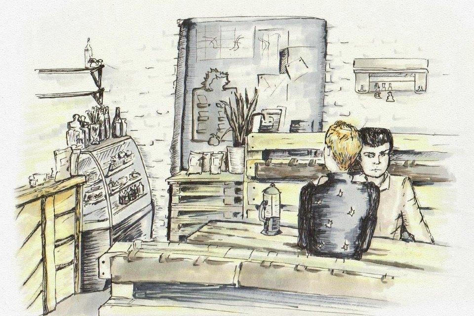 Клуб рисовальщиков: Кофейня LES. Изображение №6.