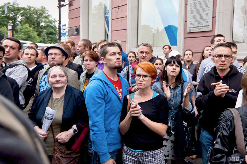 Фоторепортаж: «Народный сход» вподдержку Навального вПетербурге. Изображение № 22.