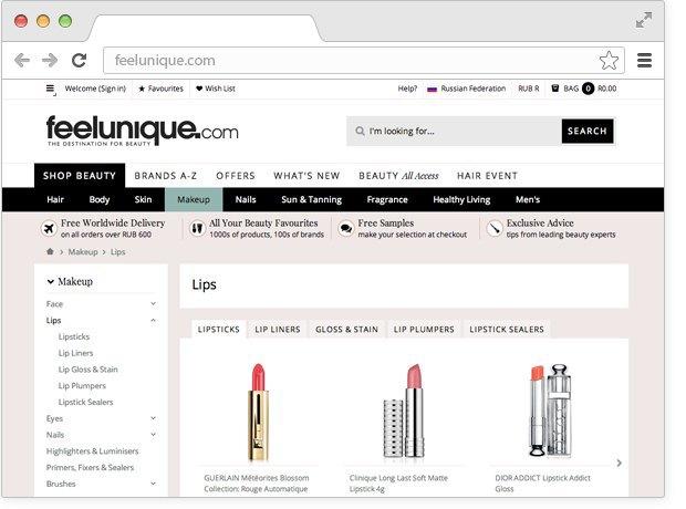 12 онлайн-магазинов косметики. Изображение № 2.