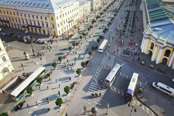 «Красивый Петербург» разработал концепцию пешеходного Невского проспекта. Изображение № 1.