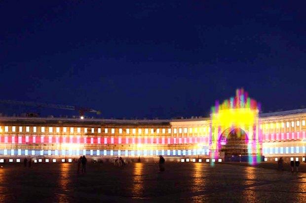 На ночь глядя: 12 проектов подсветки Главного штаба. Изображение № 76.