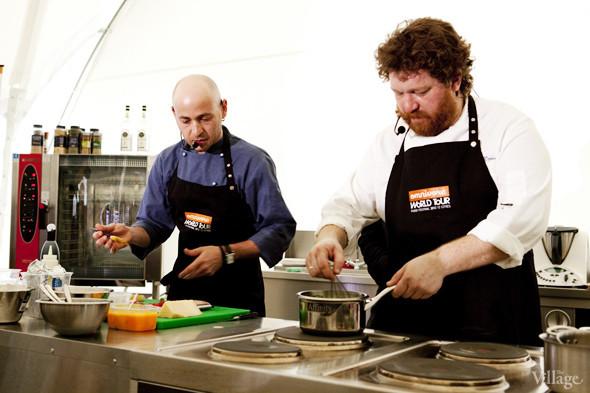 Omnivore Food Festival: Илья Шалев и Алексей Зимин готовят три блюда из редиса и черемши . Изображение № 41.