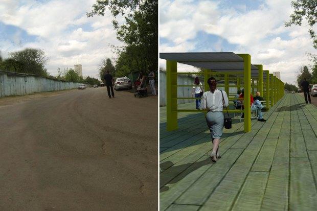 Как могли бы быть организованы зоны вдоль парков. Изображение № 17.