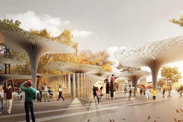 Лучший проект парка «Ходынское поле» вМоскве разработали итальянцы. Изображение № 1.