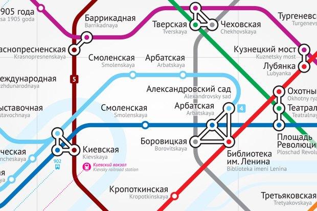 схему московского метро.