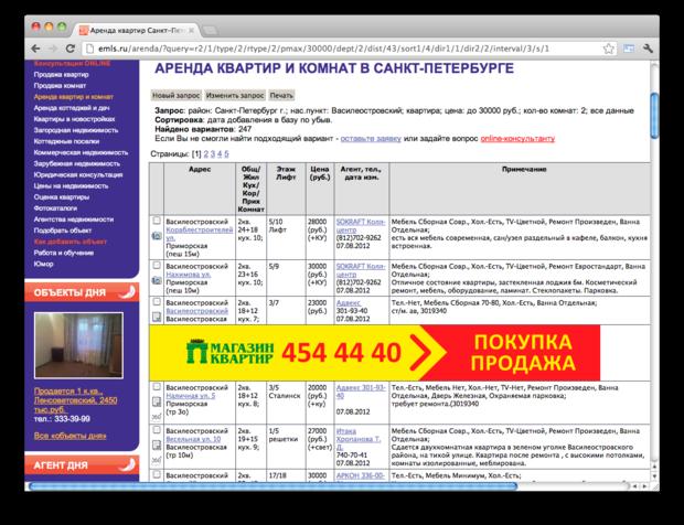 Правила съёма: 7 сайтов для поиска квартир в Петербурге. Изображение № 7.