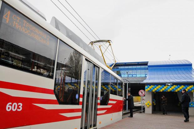 Вместо метро: На Троещине запустили скоростной трамвай. Изображение № 2.