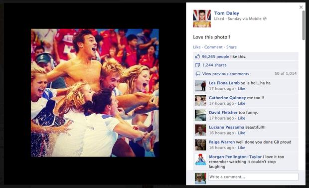 Британский прыгун в воду Том Дейли получил бронзу и почти сто тысяч лайков за одно только фото.. Изображение №10.