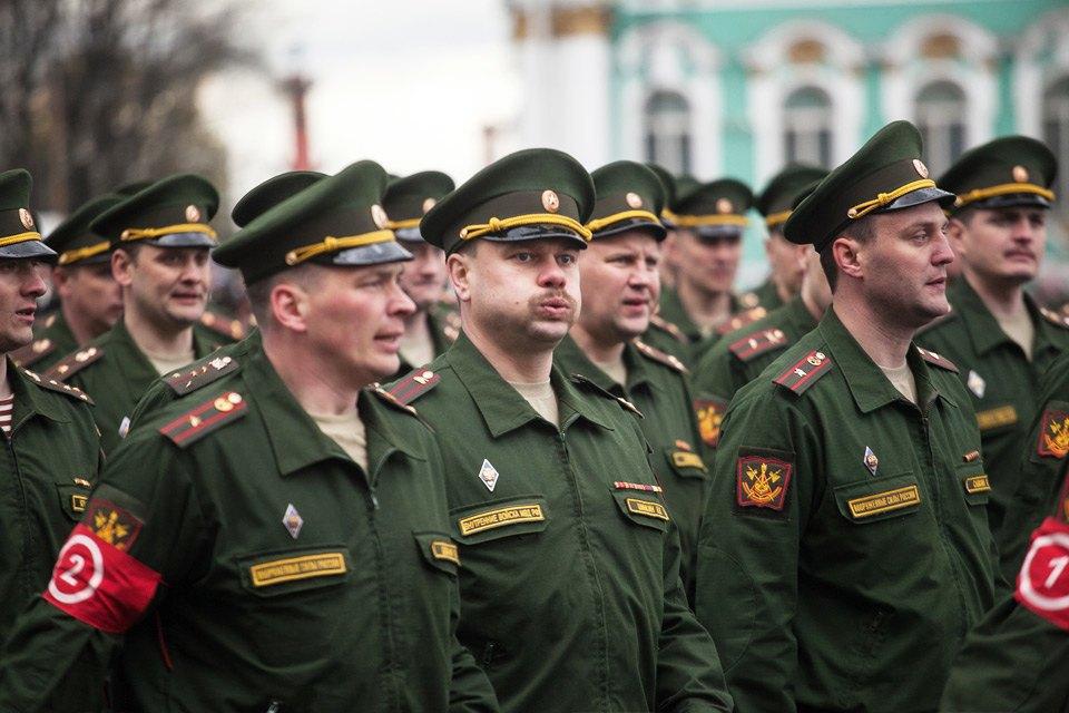 Репетиция парада Победы на Дворцовой площади. Изображение № 6.