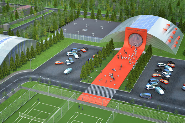 Проект Международного теннисного клуба. Мастерская Ивана Полякова. Изображение № 5.