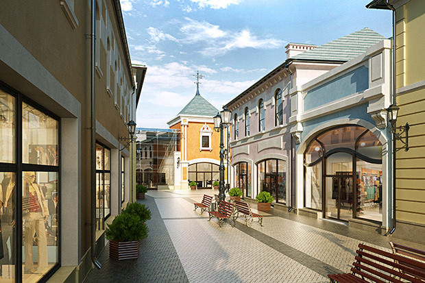 Outlet Village Белая Дача в макете. Изображение № 20.