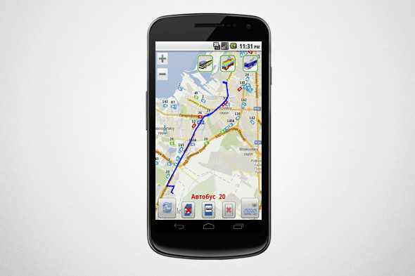 Приложение показывает полный маршрут до места назначения. Изображение № 4.