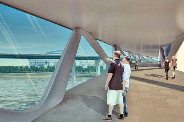 Через Неву предлагают построить двухъярусный мост с магазинами и ресторанами. Изображение № 2.