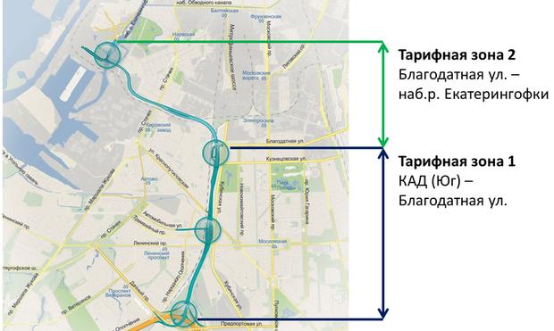 С 15 мая вступают в силу новые тарифы на проезд по ЗСД. Изображение № 1.
