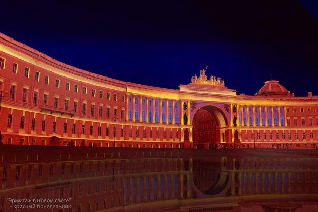 На ночь глядя: 12 проектов подсветки Главного штаба. Изображение № 6.
