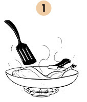 Рецепты шефов: Ножка кролика, тушеная с грибами. Изображение № 7.